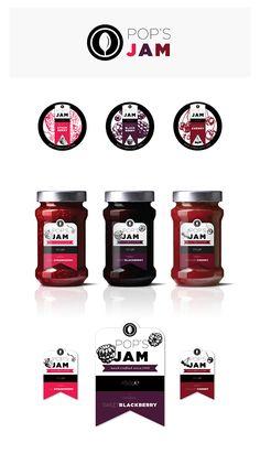 Pop's Jam Concept · Brand & Label on Behance