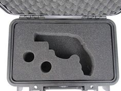 Pelican Case 1170 with Custom Foam Insert for Smith and Wesson 629 Revolver Handgun and 2 Speed Loaders. Water Proof, Dust Proof Carry Case - Brought to you by Avarsha.com