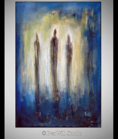 ORIGINAL Abstract Painting  Figure Art  Blue  - TRINITY -  30x20 - Abstract Fine Art by BenWill by benwill on Etsy https://www.etsy.com/listing/239598252/original-abstract-painting-figure-art