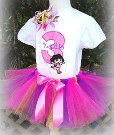 Dora the Explorer Girls Tutu Set Outfit