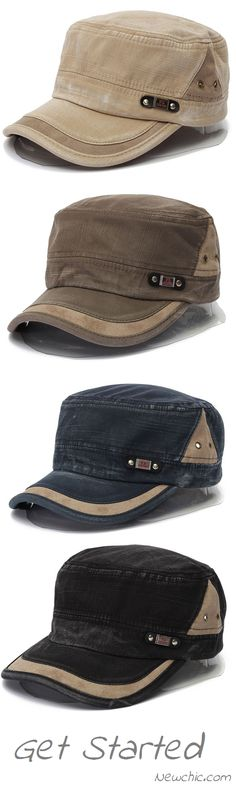 Men Women Vintage Military Army Plain Flat Cap Washed Peaked Hat.Up To 46% OFF.Shop Today!!!