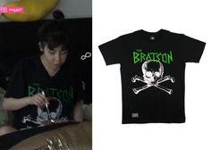 "Park Bom on ""Roommate"" Episode 9.  Bratson Big Skull T-Shirt #Roommate #룸메이트 #ParkBom #박봄"