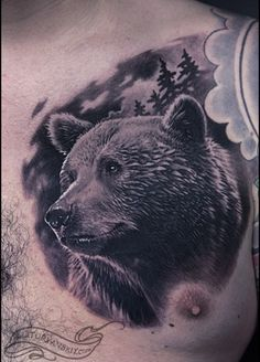 Beautiful bear tattoo