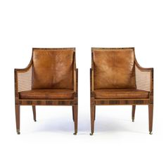 Pair of Kaare Klint Bergere Chairs | From a unique collection of antique and modern bergere chairs at https://www.1stdibs.com/furniture/seating/bergere-chairs/
