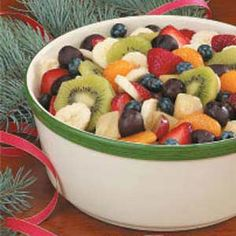 Fruit Medley Recipe: Made this for brunch on Christmas morning -- delish! Bonus: I made it the night before!