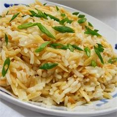 Sarah's Rice Pilaf - Allrecipes.com (This is one of my go-to sides. It is SOOO easy and my family loves it!)