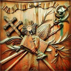 In voce jubilationis resonent epulantes in mensa Domini.  Abbaye Saint-Germain d'Auxerre.