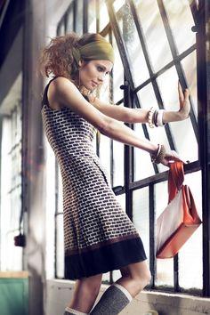 Mod Tweed Shift Dress - from Vintalier Debut Lookbook; Model: Molly Reardon   Photographer: Dustin Rowley   Hair, Makeup, & Styling: Destiny Taylor   Location: The Good Mod