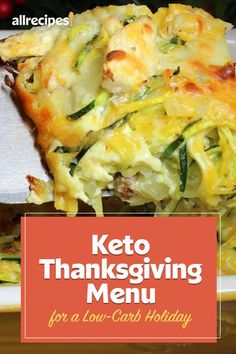 "Keto Thanksgiving Menu for a Low-Carb Holiday | ""As long as you keep some low-carb, low-sugar, and high-fat options at the table and make the right swaps, you'll be able to stay in ketosis and still enjoy the holiday without feeling deprived one bit. This is our delicious keto menu, made up of appetizers, sides, mains and desserts, for the ultimate Thanksgiving meal that tastes just as satisfying without the carbs."" #thanksgiving #thankgivingrecipes"