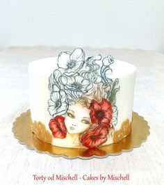 Handpainted poppy lady by Mischell