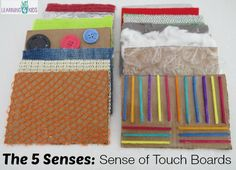 Sense of touch boards