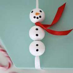 14: Snømann av trekuler - Panduro Hobby