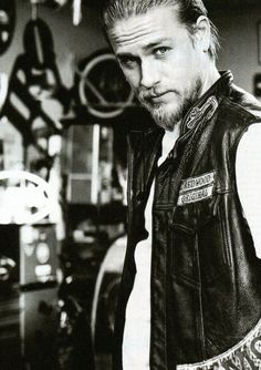 Charlie Hunnam in character as Jackson Nathaniel Jax Teller, from Sons of Anarchy.