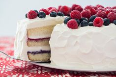 Find the recipe for Red, White, and Blue Ice Cream Cake and other raspberry recipes at Epicurious.com