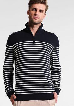 Kleding Esprit BASIC - Trui - navy Donkerblauw: € 39,95 Bij Zalando (op 23-9-17). Gratis bezorging & retour, snelle levering en veilig betalen! Stylish Mens Outfits, Stylish Clothes, Long Sleeve, Sleeves, Mens Tops, T Shirt, Fashion, Supreme T Shirt, Moda