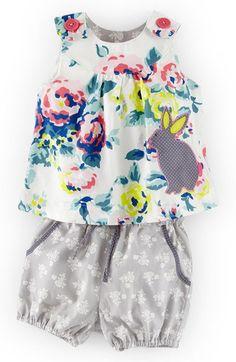 Mini Boden Appliqué Tunic & Bubble Shorts (Baby Girls) | Nordstrom