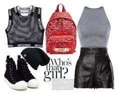 """Who's That Girl?"" by laura-wild-1 ❤ liked on Polyvore featuring Moschino, women's clothing, women's fashion, women, female, woman, misses and juniors"