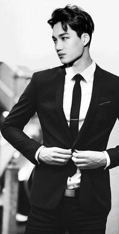 Classic Men Suits Black Business Suits Slim Fit Groom Suit Groomsmen Tuxedo Terno Masculino Kyptkn Wedding Suits for Men Exo Kai, Sehun, Fashion Mode, Mens Fashion, Style Fashion, Fashion Black, Fashion News, Fashion Menswear, Fashion Clothes
