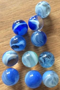 Lot 6 Vintage Blue And Clear Marbles - http://hobbies-toys.goshoppins.com/marbles/lot-6-vintage-blue-and-clear-marbles/