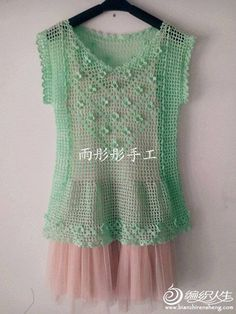 Shirt summer crochet easy and fast to build. Filet Crochet, Easy Crochet, Crochet Lace, Irish Crochet, Crochet Shirt, Crochet Cardigan, Crochet Woman, Irish Lace, Crochet Clothes