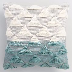 World Market/Cost Plus Jade Woven Triangle Indoor Outdoor Throw Pillow Outdoor Chair Cushions, Throw Cushions, Outdoor Throw Pillows, Outdoor Rugs, Accent Pillows, Decorative Throw Pillows, Indoor Outdoor, Seat Cushions, Decor Pillows