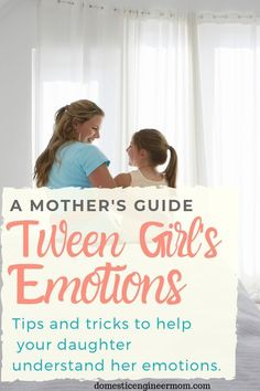 Tween girls can have a big change of emotions once they start hitting puberty. Learn how I've helped our daughters understand what their emotions are about. Parenting Books, Parenting Teens, Parenting Advice, Teaching Emotions, Funny Tips, Funny Hacks, Feelings Book, The Body Book, Raising Teenagers