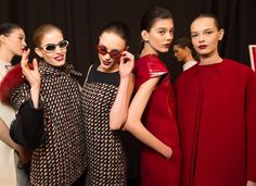 Red & CHic & Tweed all over - Fall '15