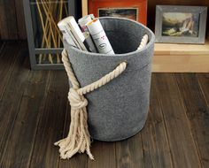 Items similar to Felt Rectangle Big Bin Storage Box Container Storage Bin Basket Book Storage Living Room Storage Bin Tote Box on Etsy Fabric Storage Baskets, Storage Bins, Storage Ideas, Felt Diy, Felt Crafts, Living Room Storage, Kitchen Storage, Concrete Projects, Diy Box