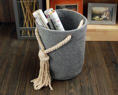 Items similar to Felt Rectangle Big Bin Storage Box Container Storage Bin Basket Book Storage Living Room Storage Bin Tote Box on Etsy Felt Diy, Felt Crafts, Diy And Crafts, Concrete Crafts, Concrete Projects, Fabric Storage, Storage Baskets, Kitchen Storage, Diy Box