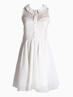 Sleeveless Dress With Lace Detail | Choies
