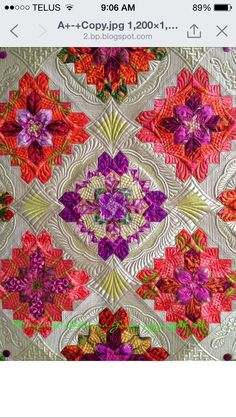 Beautiful colors and quilting