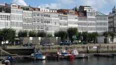 Dársena en La Marina de la ciudad de LA CORUÑA, Galicia, España. Spain.