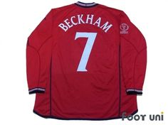 """""""England 2002 Away #7 Beckham""""   Vintage Soccer Jerseys Footuni online shop. 「England 2002 Away Beckham #7 Japan Korea World Cup model Against Argentina Match day embroidery UMBRO National Soccer team」page. Products offered are abundant according to an age in a classic football shirts. It is introduction at simple and convenient prices, such as an age, player suppl"""