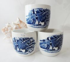 Vintage Blue and White Cottage Kitchen - - Team Vintage Passion by Lauren on Etsy