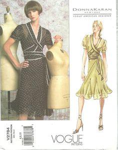 Vogue 2784 / Designer Sewing Pattern By Donna Karan / Dress And Bias Slip / Sizes 6 8 10