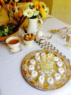 Natalie's yellow and gray bridal shower