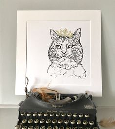 Vintage Typewriters, Dory, Contemporary, Cats, Unique Jewelry, Handmade Gifts, Kid Craft Gifts, Gatos, Craft Gifts