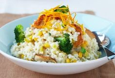 chicken and corn risotto