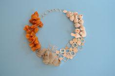 "KATJA TOPORSKI-USA Preservation Conservation - 2013 - Silver, Concrete, Linen, Myrrh, Porcelain 9"" x 9"" x 1"""