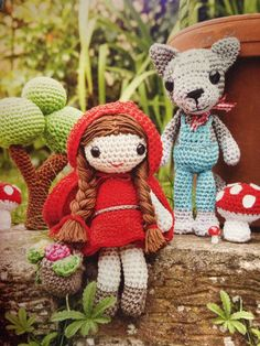 Pattern in Craftseller October 2014. Little red riding hood and wolf amigurumi