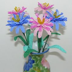 Beaded Flowers Double Painted Daisies With Matching by Craftymoose, $35.00