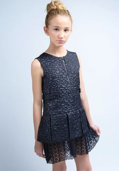 Lawrence Jacquard Dress with Italian lace skirting.
