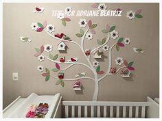 arvore mdf flores passarinhos casinhas