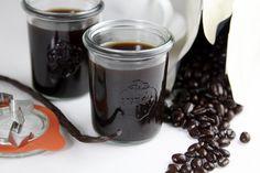 Homemade coffee liqeur.