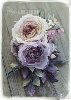 Fabric Flower Brooch, Fabric Roses, Satin Flowers, Silk Roses, Sugar Flowers, Diy Flowers, Vintage Flowers, Making Fabric Flowers, Flower Making