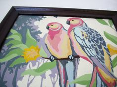 Vintage Parrot Paint By Numbers PBN by FileUnderVintage on Etsy, $18.00