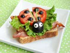 Cute Meal Idea for Kids: Ladybug B.L.T. Sandwich