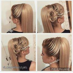 ✂ Модные стрижки и прически 2018 фото ✂ Hairdo Wedding, Cool Braid Hairstyles, Indian Wedding Hairstyles, Elegant Wedding Hair, Elegant Hairstyles, Wedding Hair And Makeup, Up Hairstyles, Pretty Hairstyles, Chignon Volume