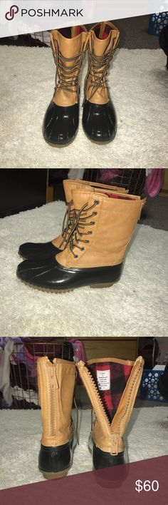 Duck Boots Madden Girl! Wore twice and bought for $90 Madden Girl Shoes Winter & Rain Boots