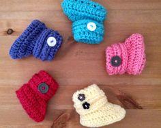 Botines botines de Crochet para una niña / niño por berlinerkindl